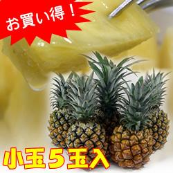 【送料無料】沖縄県産スナックパイン小玉5玉入り(ボゴールパイン)[1玉約450g前後]