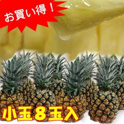 【送料無料】沖縄県産スナックパイン小玉8玉入り(ボゴールパイン)[1玉約450g前後]