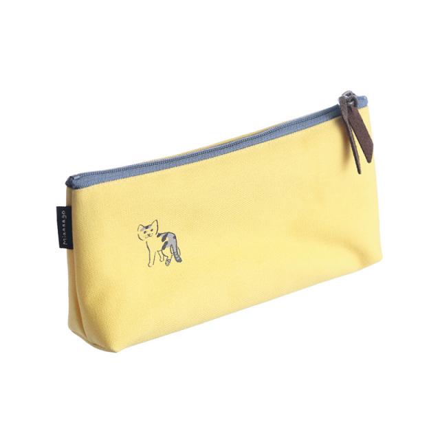 NMP-02:中島良二デザイン「ミャーゴシリーズ」綿100%国産帆布製ペンケース:ミケ