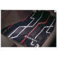 Audi純正 アウディ A6純正 フロアマット プレミアムスポーツ ブラック、シルバー&レッド J4GBM5L14PSB05 左ハンドル用 / a03731942