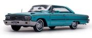 予約品 5月頃 ミニカー Sun Star(サンスター) 1/18 1466 フォード ギャラクシー 500 XL ハードトップ 1963 ピーコックブルー 0657440014663