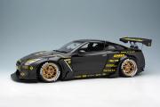 予約品 10月頃 ミニカー IDEA(イデア) レジン ハンドメイドモデル 1/18 IM003B4 Rocket Bunny R35 GT‐R ブラック(カーボンフード) / HRE S101 20in. Wheel 4573433683417