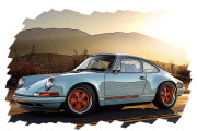 予約品 6月頃 ミニカー VISION (ヴィジョン) レジン ハンドメイドモデル 1/43 VM111A Porsche Singer 911(964) ガルフブルー 4573433683462