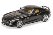予約品 2017年内順次 ミニカー ミニチャンプスMINICHAMPS ABSモデル 1/87 870037320 ブラバス 600 AUF BASIS メルセデス ベンツ AMG GT S (2015) ブラック