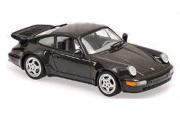 予約品 2017年順次 ミニカー MAXICHAMPS(マキシチャンプス) 1/43 940069101 ポルシェ 911 ターボ (964) 1990 ブラック