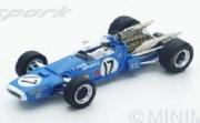 予約品 5月頃 ミニカー SPARK(スパーク)  レジンモデル 1/43 S4357 マトラ MS11 No.17 2位 Dutch GP 1968  Jean-Pierre Beltoise 9580006943576