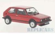 予約品 〜2017年 ミニカー ホワイトボックス Whitebox 1/43 WB239 VW ゴルフ 1 GTI 1978 レッド 4907981647766