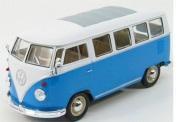 予約品 2017年3月頃 再発売 ミニカー WELLY  1/24 WE22095BL VW T1 バス 1963(ブルー) 4548565320738