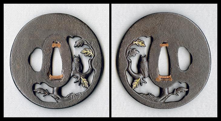 商品番号:T-070 鍔:梟の図 銘:宗程作