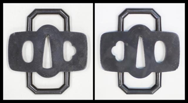【売約済】 商品番号:T-054 鐔:鶴丸透図 保存刀装具鑑定書付き
