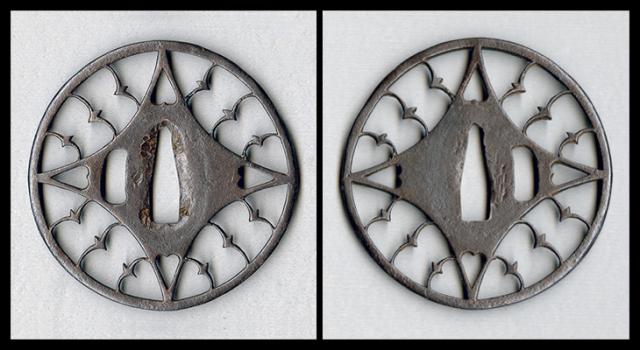 商品番号:T-071 鍔:糸巻き雁金透図