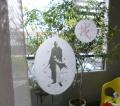 [新撰組 斎藤一 和紙デコシート中&小サイズセット] 越前和紙窓ガラスシール