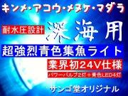 深海用!ストロボのような圧倒的な光量!超強烈ブルー集魚ライト24V サンゴ堂オリジナル