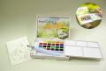 ターレンス プチカラー水筆入り 固形透明水彩24色セット