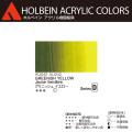 【ホルベイン アクリリック カラー】グリニッシュ イエロ−(AU042) 20mlチューブ