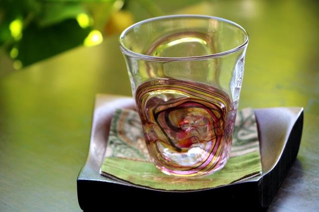 グラス  コップ ガラスタンブラー 吹きガラス 沖口こずえ 風歌グラス角