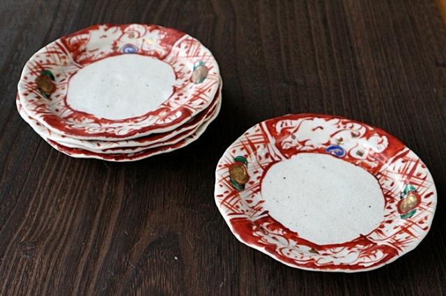 小皿 赤絵 榛澤宏 陶器