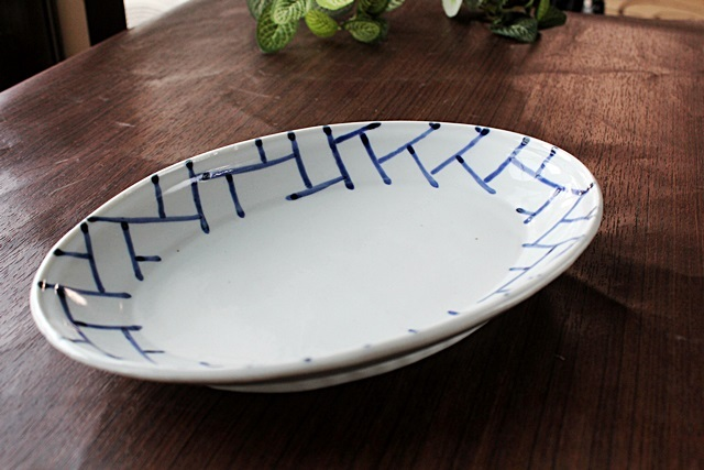 九谷青窯 楕円皿