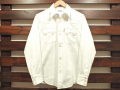 【送料無料】STANDARD CALIFORNIA DENIM WESTERN SHIRT WHITE