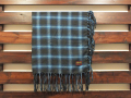 FIVEBROTHER FLANNEL STOLE BLUEOMBRE