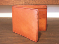 【送料無料】Dirty Leather Down Town Leather Works Leather Bi-Fold Wallet キャメル 栃木レザー