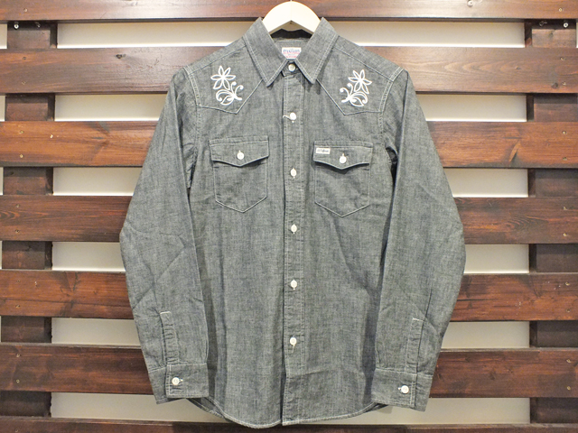 【送料無料】STANDARD CALIFORNIA CHAMBRAY WESTERN SHIRT BLACK