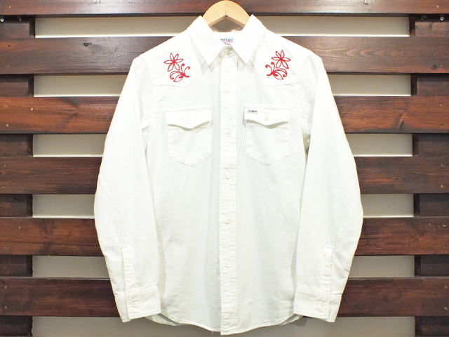 【送料無料】STANDARD CALIFORNIA CHAMBRAY WESTERN SHIRT WHITE