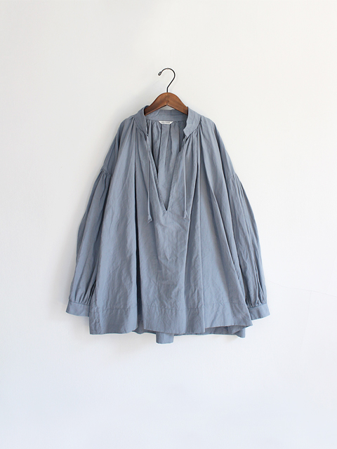 TOUJOURS (トゥジュー)  String Surplice shirt - FINE COUNT NINEN*COTTON WEATHER CLOTH