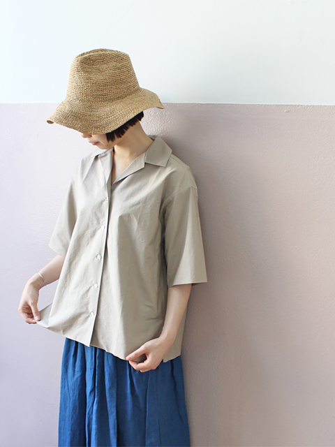 AURALEE (オーラリー) SELVEDGE WEATHE CLOTH HALF SLEEVED SHIRTS (半袖シャツ)