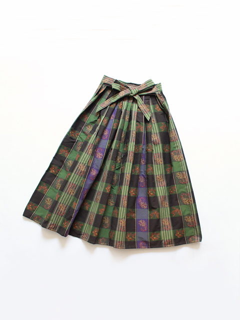 Needles (ニードルズ) Belted Skirt - Papillon & Paisley Plaid (ジャガードスカート)