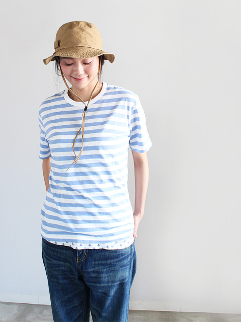 maillot (マイヨ)  Light Border Short Sleeve T-shirt (ライトボーダー半袖)