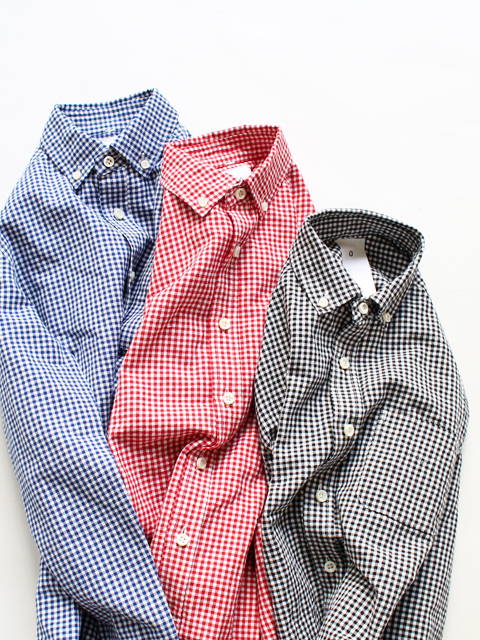 maillot (マイヨ)  sunset gingham BD shirts (ギンガム・BD)