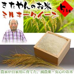 きたやんのお米(減農薬栽培・ミルキークイーン)5kg