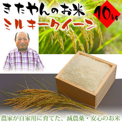 きたやんのお米(減農薬栽培・ミルキークイーン)・10kg