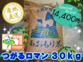 天然の有機質肥料でじっくり育てました 特別栽培米つがるロマン 精米30kg (平成28年産)