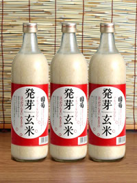 【甘酒】「国菊発芽玄米甘酒」ノンアルコール720ml×6本セット【篠崎】