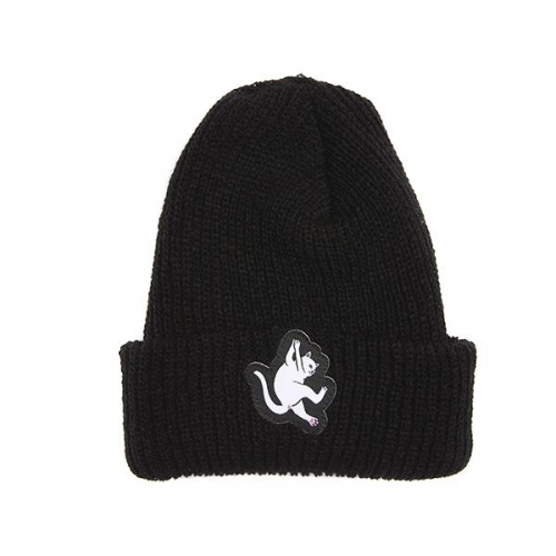 RIPNDIP リップンディップ HANG IN THERE RIBBED BEANIE (BLACK)
