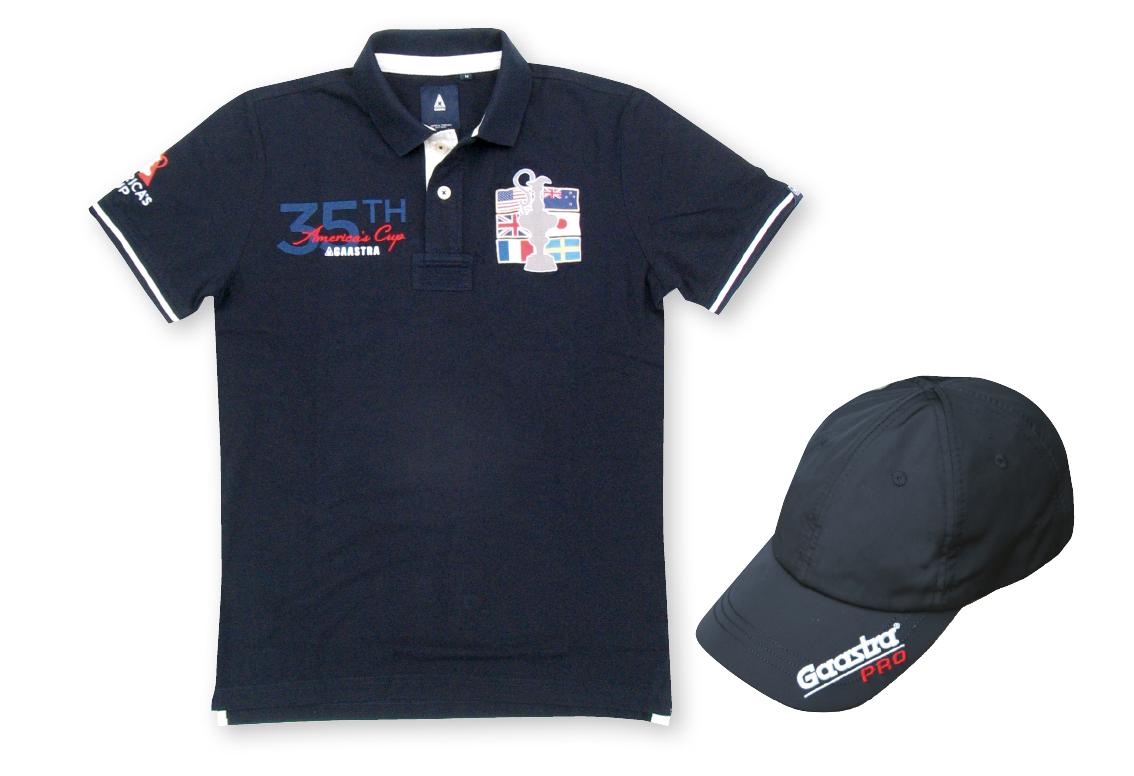 GAASTRA AC35 セット  アメリカズカップ ポロシャツ/キャップセット・バミューダ ☆ 71855