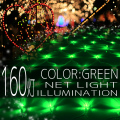 イルミネーション ネット ライト 網 160球 160灯 LED 1m×2m 緑 グリーン 延長用 クリスマスイルミネーション イルミ