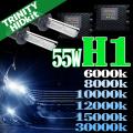 HID H1 キット 55W HIDフルキット HIDキット ヘッドライト キセノン ディスチャージヘッドライト HIDライト hid H1 車 パーツ カー用品 ケルビン数【6000K 8000K 10000K 12000K 15000K 30000K選択