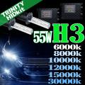 HID H3 キット 55W HIDフルキット HIDキット ヘッドライト キセノン ディスチャージヘッドライト HIDライト hid H3 車 パーツ カー用品 ケルビン数【6000K 8000K 10000K 12000K 15000K 30000K選択