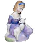 �?���ɥ�ȥ� Royal Doulton ƫ��ե����奢Mary had a little lamb HN2048 �⤵9cm��1948ǯ