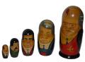 ロシア雑貨 ソビエト連邦時代 レーニンからゴルバチョフまでのマトリョーシカ
