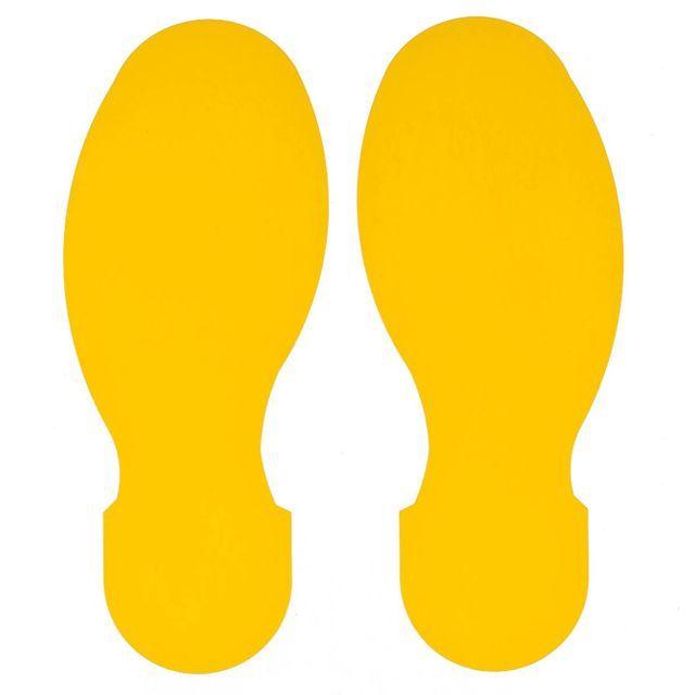 足跡型-10枚/パッケージ(右足-5枚 左足-5枚) B-514