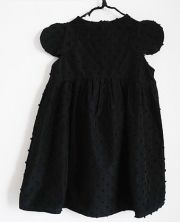 【frankygrowフランキーグロウ】19SOP-136/BONBON CUT JQ 2DOTS SLEEVES DRESS