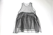 【UNIONINI】OP-050/tulle apron dress/black 子供と大人