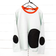 【frankygrowフランキーグロウ】CS-295/WAFFLE BEAR MT SWITCHING L/S TEE -BEAR MT ELBOW PATCH