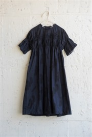 【UNIONINI】OP-063/camo long dress navy×black 12-14y