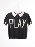 【BOBOCHOSES17ss】117094Polo Knit Jumper Play Black