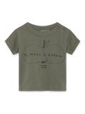 【BOBOCHOSES】119150 Ant And Apple Short Sleeve T-Shirt